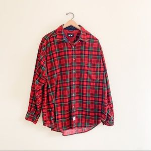 Vintage Woods & Gray Classic Red Plaid Flannel XL